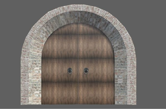 Medieval arch with doors 3D model & 3D model Medieval arch with doors | CGTrader