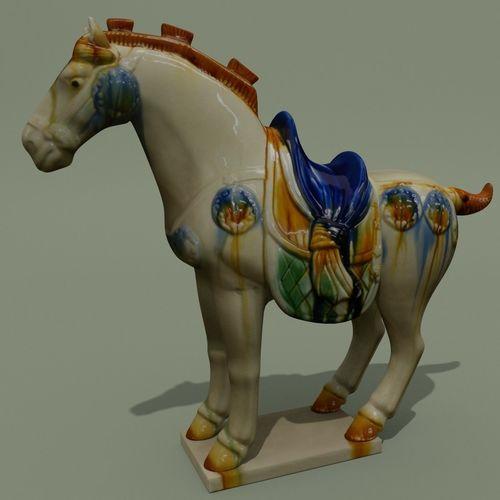 horse statuette z 3d model obj mtl 3ds ma mb blend 1