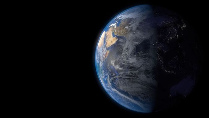 earth rotating 3d model animated blend 1