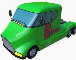 Futuristic semi truck 3D