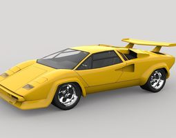 countach 3d models download 3d countach files. Black Bedroom Furniture Sets. Home Design Ideas