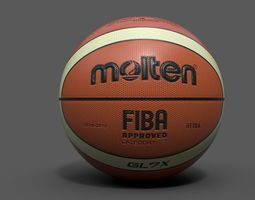 molten official basketball world cup ball  PBR 3d model