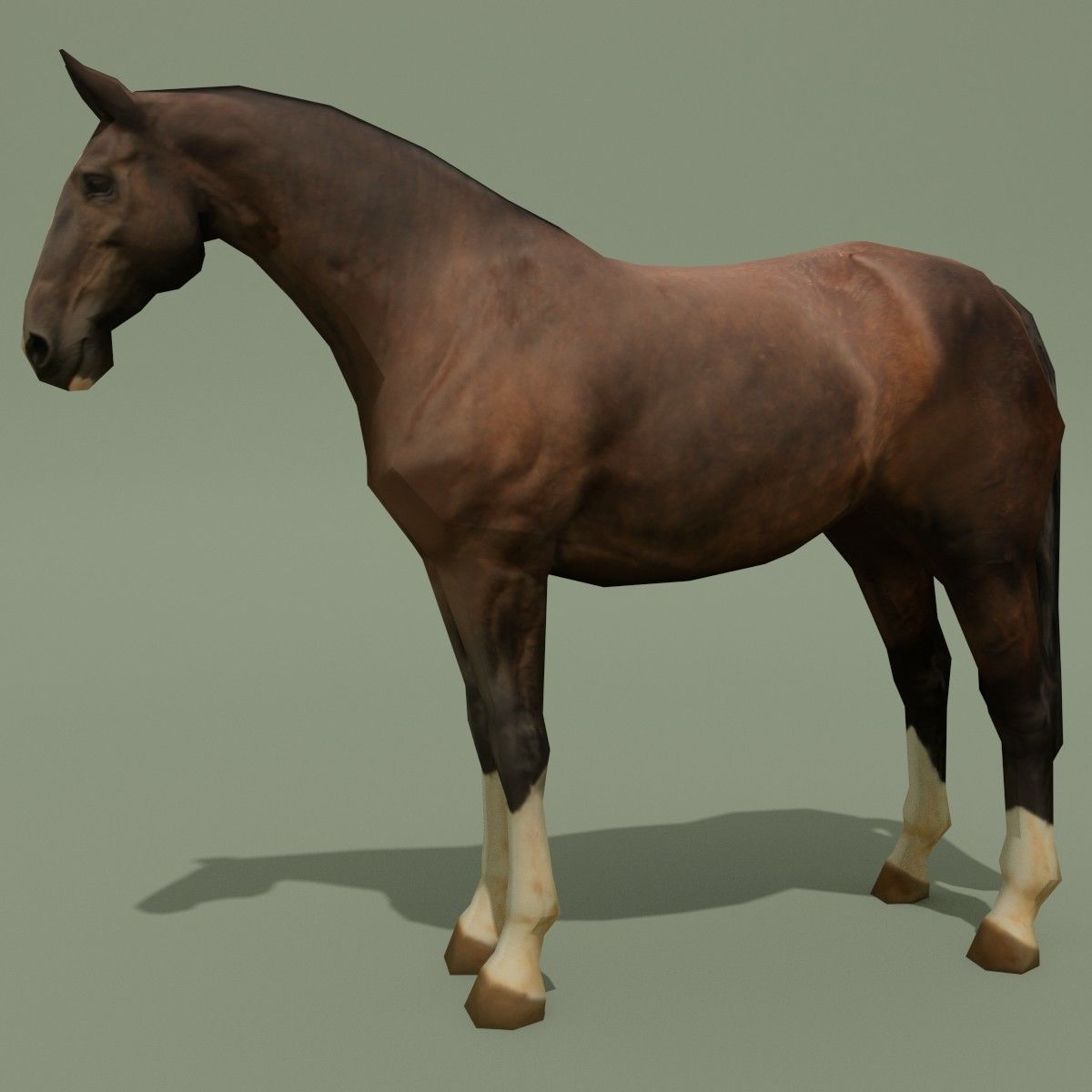 LowPoly Horse C Liver Chestnut