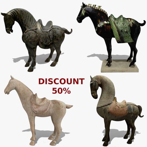horse statuette collection volume 5 3d model obj mtl 3ds ma mb blend 1