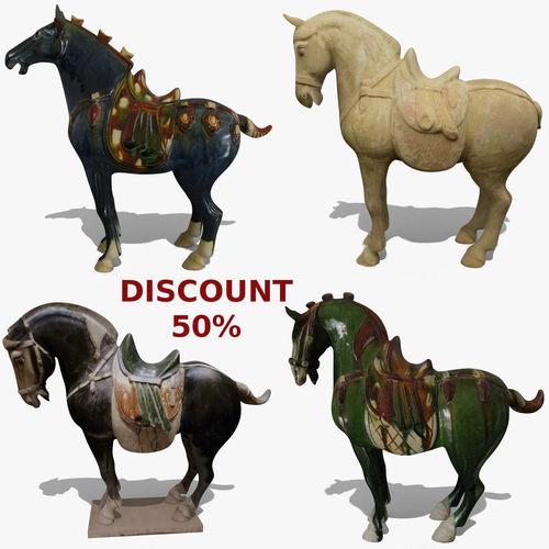 horse statuettes collection volume 7 3d model obj mtl ma mb blend 1
