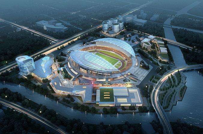 sports stadium 002  3d model max 1