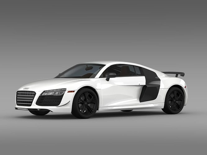 Audi R8 Competition 2015 3d Model Cgtrader