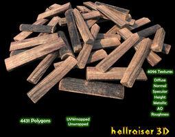 Logs Chopped - Textured 3D asset
