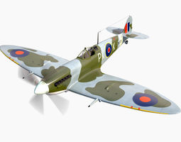 Supermarine Spitfire 3D model fighter