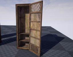 Old Cabinet optimized for Unreal Engine 3D model