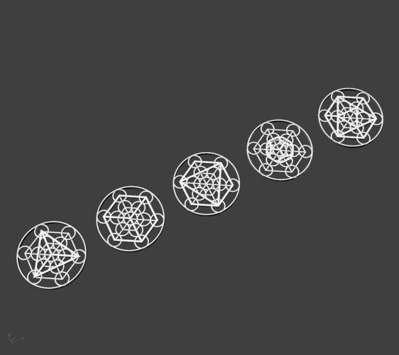 metatron cube pendants 3d model obj mtl 3ds stl 3dm 1