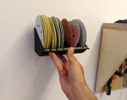 sanding discs rack -organizer - 6 inch disks 3D print