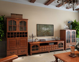 The combination of the TV cabinet living 3D
