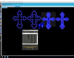 cross 3D printable model design jewelry
