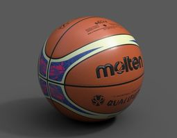 3D model Molten Official Qualifiers Basketball World Cup