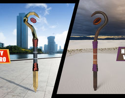 3D asset WITCH AND SUPERHERO SCEPTER