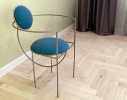 3D model chair Lunar Lara Bohinc