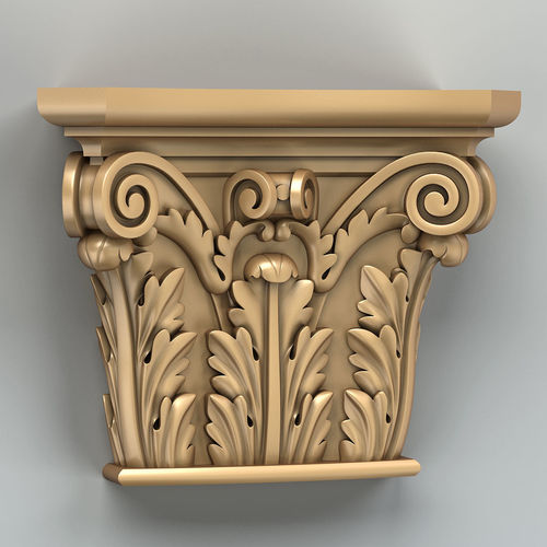 column capital 008 3d model max obj fbx stl 1