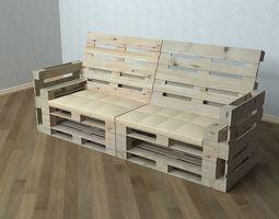 Pallet Sofa 3D