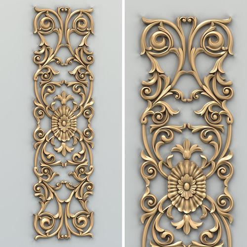 carved decor vertical 014 3d model max obj fbx stl 1