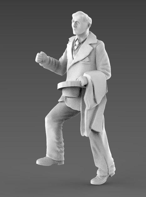 young man  3d model