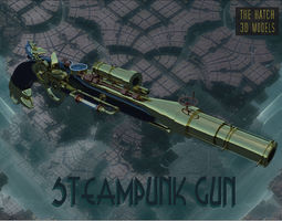 3D model Flintlock Steampunk gun