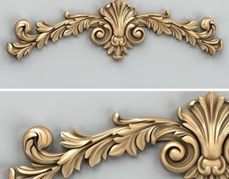 Carved decor horizontal 027 3D model