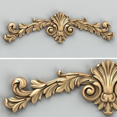 carved decor horizontal 027 3d model max obj mtl fbx stl 1