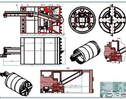 TBM2500 Full Face Tunnel Boring Machine Shield 3D model 1