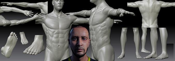 realistic man 3d model low-poly fbx ma mb 1