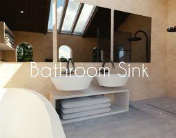 Luxury Bathroom Sink 3D asset