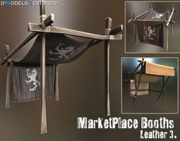 3D asset MarketPlace Booths - Leather 3