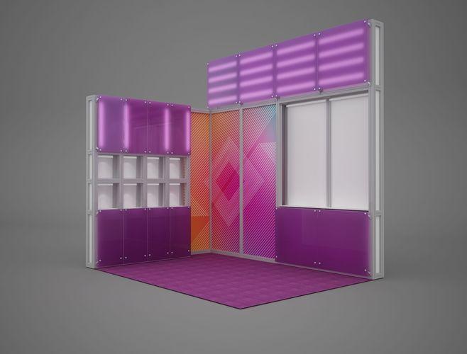 exhibition stand octanorm maxima 4x3 m 3d model max obj mtl fbx mat 1