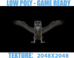 GREAT HORNED OWL 3D asset