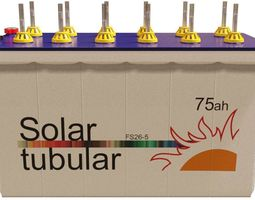 Solar power tubular battery 3D model