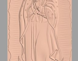 Christian Jesus the Virgin Mary 3D Relief Model J24