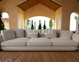 Luxury Couch 3D asset