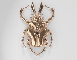 3D Golden Scarab Beetle
