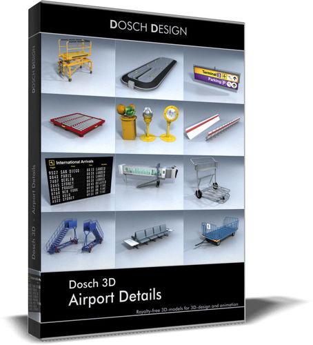 dosch 3d - airport details 3d model max obj 3ds fbx c4d lwo lw lws 1