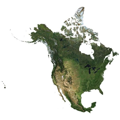 Map Of Usa And Canada And Mexico.High Detailed Relief Map Of Usa Canada Mexico 3d