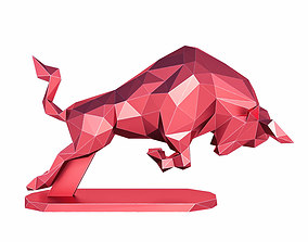 3D asset R Bull Low Poly
