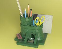Medieval Keep - Desk Organizer 3D printable model