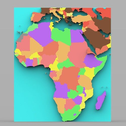 3D African Continent Map   CGTrader