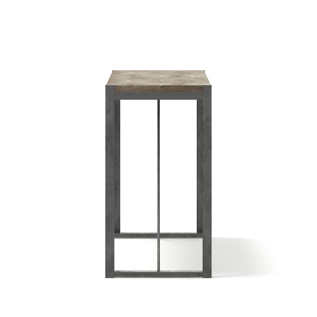 ... Tall Wood And Metal Table 3d Model Max Obj Fbx C4d Mtl 3 ...