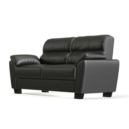 Black Leather Classic Sofa 3D model MAX OBJ MTL FBX C4D