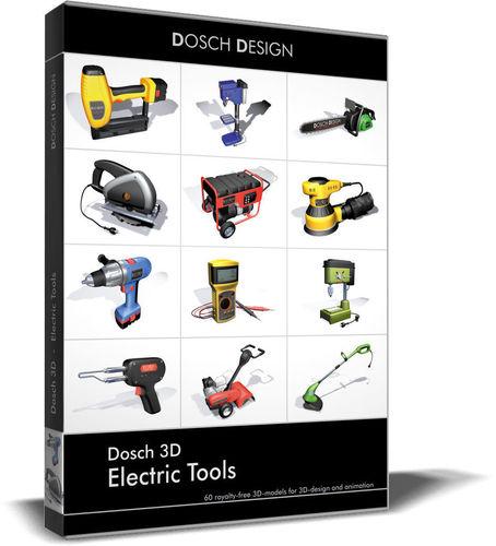 dosch 3d - electric tools 3d model max obj mtl 3ds c4d lwo lw lws ma mb 1