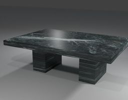 Marble kitchen table 3D model realtime