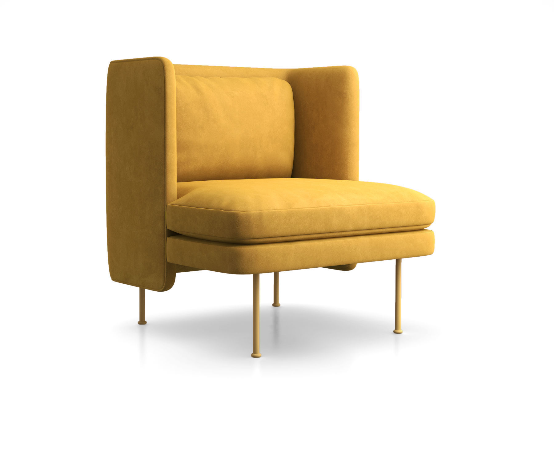 Cool Bloke Velvet Lounge Chair By Blu Dot 3D Model Ocoug Best Dining Table And Chair Ideas Images Ocougorg
