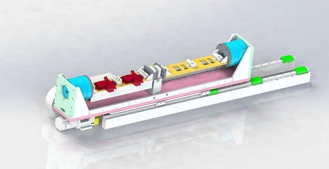Double work position platform | 3D model