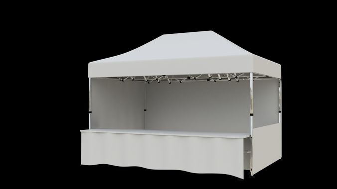 marketing tent 4-5x3 m 3d model max obj mtl fbx 1